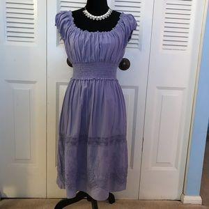 Max Studio lavender embroidered dress.